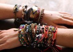 layered bracelets for fall.