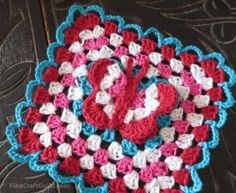 3D Butterfly Granny Square Free Crochet Pattern