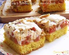Les plats roumaines: Gâteau à la rhubarbe meringué