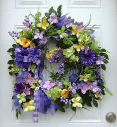 Spring/Summer Purple Willow Wreath with Butterflies Purple Wreath, Lavender Wreath, Floral Wreath, Wreaths For Sale, How To Make Wreaths, Door Wreaths, Willow Wreath, Grapevine Wreath, Willow Green