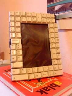 picture frame out of a wrong, old keyboard