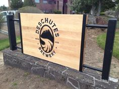 Deschutes Brewery Solid Maple Sign with Iron Accents.  www.blackcanyonwoodworks.com http://blackcanyonwoodworks.com/2013/04/wood-iron-technology-and-beer/