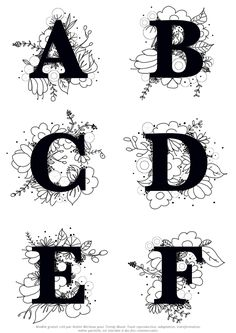 I hope you will take as much pleasure in embroidering this flowery alphabet as I had in designing it. Hand Embroidery Videos, Embroidery Letters, Simple Embroidery, Embroidery Patterns Free, Hand Embroidery Patterns, Vintage Embroidery, Cross Stitch Embroidery, Machine Embroidery, Diy Broderie