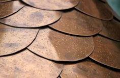 Copper roof shingles