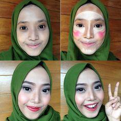 This is how i contouring ma face. #contour #muabandung #makeuplovers #makeup