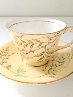 Antique Aynsley English Bone China Teacup and by MariasFarmhouse