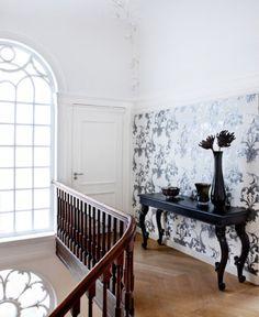 Gardens of Amsterdam - Swirl - traditional - wallpaper - toronto - Prime Walls Wallpaper Toronto, Loft Inspiration, Interior Design, Wallpaper Gallery, Home, Traditional Wallpaper, Grey Wallpaper, Home Decor, Wall Coverings