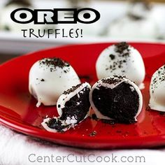 Ridiculously Easy 3 Ingredient Oreo Balls are an easy no bake dessert recipe you'll love! If you like cake balls and Oreo ball recipes, you need this tasty chocolate treat.