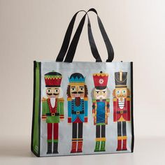 Durable and eco-conscious, our exclusive reusable tote is a functional, festive accessory. With its bright nutcracker design and convenient nylon handles, this stylish bag is a perfect for hauling holiday shopping or packing up presents. Nutcracker Crafts, Nutcracker Christmas, Pink Christmas, Christmas Themes, All Things Christmas, Holiday Crafts, Christmas Holidays, Christmas Gifts, Xmas