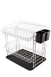 Double Dish Rack With Drip Tray - Kitchen Accessories - Shop Kitchen -
