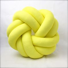 Circle Round Yellow Knot Cushion Pillow
