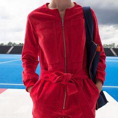 LF Markey: Corduroy Boilersuit Red