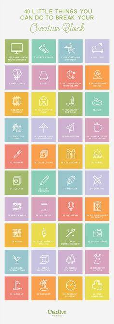 Break the creative block infographic