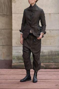 Paul Harnden Woman Tweed Set - Blazer, Pants and cotton shirt Best Mens Fashion, Trendy Fashion, Cheap Fashion, Casual Outfits, Men Casual, Fashion Outfits, Fashion Boots, Drop Crotch Pants, Revival Clothing