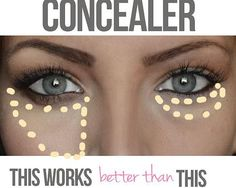 Perfect concealer after that night of 'did I really do that!'  muabykfb   Tips and Tricks
