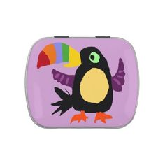 Colorful Toucan Art Candy Tin #toucans #birds #art #animals #candy #tins #gifts And www.zazzle.com/tickleyourfunnybone*