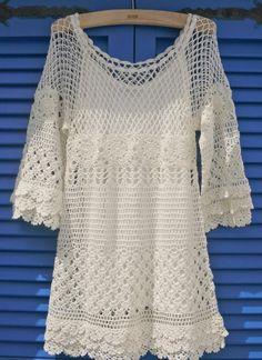 Hand Knit Delicacy Crochet Dress