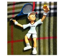 Personalized Christmas Ornament Male Tennis by PersonalizeStation