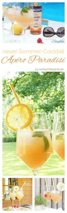 Neuer Sommer-Cocktail für liebe Freunde: Apéro Paradisi by einfachStephie.de Sommerdrink mit Alkohol, Leichter Sommercocktail mit Weißwein, Ramazzotti Rosato, Grapefruitsaft und Wasser. Einfaches Cocktail-Rezept Sommer 2017 https://einfachstephie.de/sommer-cocktail-apero-paradisi-aperitif-mit-grapefuit/