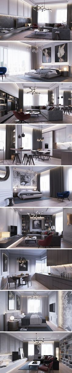 «Apartments in St. Petersburg» - Галерея 3ddd.ru #moderninteriordesignapartment