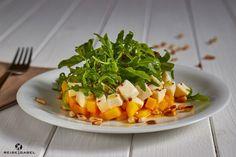 Mango-Mozzarella-Salat mit Rucola und Zitronenessig {Werbung}