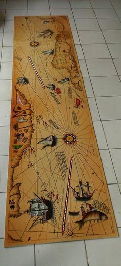 285/70 cm piri reis haritası çini pano(özel el yapımı )