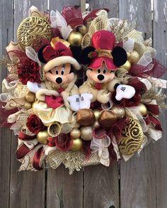 Disney Christmas Wreath Disney Christmas Mickey & door BaBamWreaths