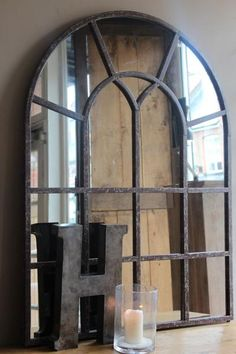 NEW STEEL WINDOW FRAME MIRROR | discoverattic