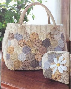 Hexagon bag with matching mini bag