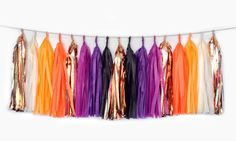 Items similar to This is Halloween Tassel Garland - Tissue Paper Tassel Garland - Party Decoration//Home Decor//Holiday Party Supplies on Etsy Tassel Garland, Tassels, Tissue Paper Tassel, Hawaii Honeymoon, Halloween Party Decor, Cool Stuff, Interesting Stuff, Holiday Parties, Party Supplies