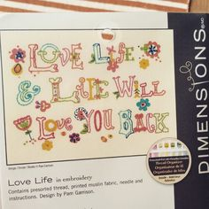 Dimensions/ekSuccess has one of my embroidery patterns as a kit-;) (available at Joann's, amazon, etc) #pghandstitching
