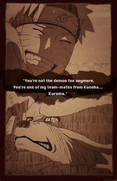 aaww kurama don't cry!!! This is a perfect display of no matter what naruto will change you, even if you are a demon fox
