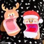 Printable Christmas Puppets – Santa, Elf and Reindeer Rudolph