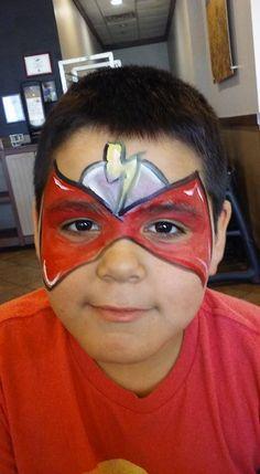 #flashfacepaint #superherofacepaint #funfacesballooncreationsfacepaint Flash Face Paint, Superhero Face Painting, Detective, Pikachu, Carnival, Carnavals