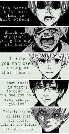 Quotes Sad Tokyo Ghoul 47 New Ideas Tokyo Ghoul Cosplay, Tokyo Ghoul Dibujos, Ken Kaneki Tokyo Ghoul, Tokyo Ghoul Manga, Hide Tokyo Ghoul, Sad Anime Quotes, Manga Quotes, Touka Wallpaper, Tokyo Ghoul Quotes