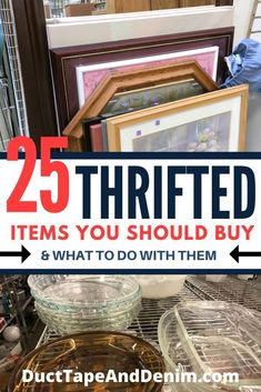 These are the 25 thrifted items that you need to be looking for at thrift stores. - These are the 25 thrifted items that you need to be looking for at thrift stores, garage sales, and - Thrift Store Outfits, Thrift Store Shopping, Thrift Store Crafts, Flea Market Crafts, Thrift Store Decorating, Thrift Store Finds, Vintage Thrift Stores, Goodwill Finds, Flea Market Style