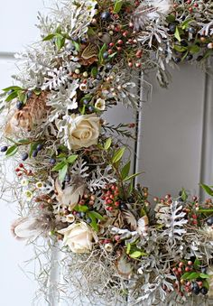 Fresh Floral Wreath For Spring