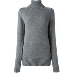 H&M Ribbed Turtleneck Top - Gray melange | Grey | Pinterest ...