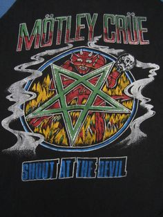 MOTLEY CRUE vintage 80s tour TSHIRT