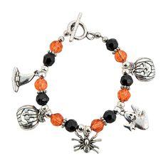 Halloween Crystal & Charm Bracelet Kit - OrientalTrading.com