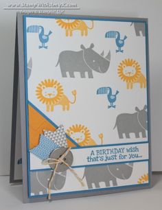 Zoo Babies Birthday Card & Stamp Night With Stampin' Up! - Stamp With Amy K
