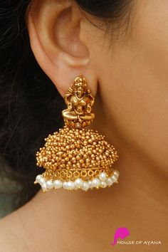 Earring Sets Shop In Chennai Jewelry Design Earrings, Gold Earrings Designs, Gold Jewellery Design, Ear Jewelry, Gold Designs, Necklace Designs, Gold Temple Jewellery, Gold Jewelry, Gold Necklace