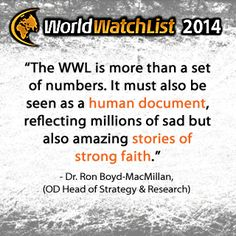 Quote about the 2014 World Watch List