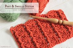 How To: Crochet The Post and Shells Stitch - Easy Tutorial by Hopeful Honey