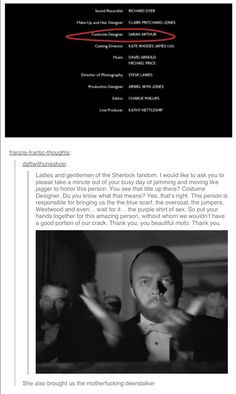 I will honor her with a Sherlockian salute! -jumps off a building-