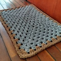 Crochet Motif, Knit Crochet, Knit Rug, Storage Design, Crochet Animals, Diy And Crafts, Carpet, Blanket, Home Decor