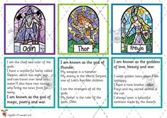 Teacher's Pet - Viking God Matching Cards - Premium Printable Classroom Activities and Games - EYFS, vikings, thor, gods, odin Ks2 Classroom, Classroom Activities, Vikings Ks2, Vikings For Kids, Manado, Odin And Thor, Class Displays, Horrible Histories, Math Graphic Organizers