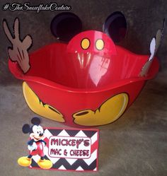 Mickey Mouse Snack bowl and Matching Food tent Mickey Mouse clubhouse Birthday Party Decorating ideas food and dessert table menu ideas