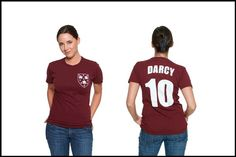 Mr. Darcy - #10. Why yes, it's a literary jersey t-shirt.