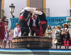 Treading grapes at the fiesta Spanish Wine, Country Life, Spain, Merry, Rock, Fiestas, Country Living, Sevilla Spain, Skirt